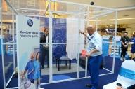 Kesh Sandhu with Harith Iskander, World's Funniest Man at Sunway Pyramid Mall, Malaysia